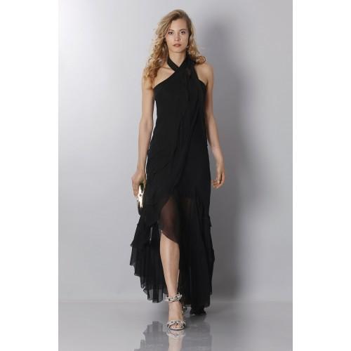 Vendita Abbigliamento Usato FIrmato - Abito in chiffon nero - Alberta Ferretti - Drexcode -4