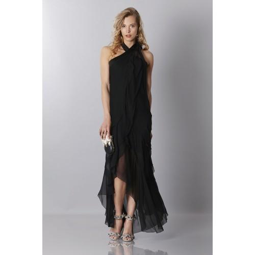 Vendita Abbigliamento Usato FIrmato - Abito in chiffon nero - Alberta Ferretti - Drexcode -6