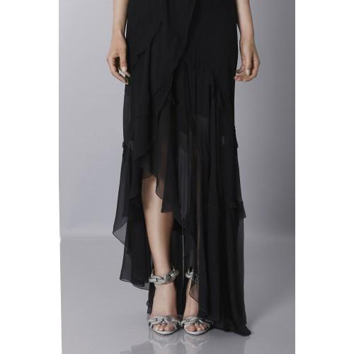 Vendita Abbigliamento Usato FIrmato - Abito in chiffon nero - Alberta Ferretti - Drexcode -2