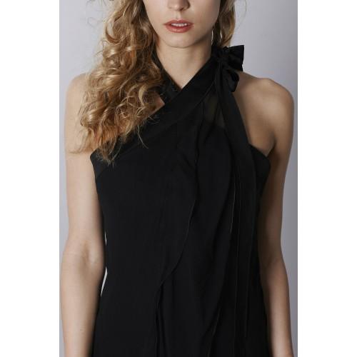 Vendita Abbigliamento Usato FIrmato - Abito in chiffon nero - Alberta Ferretti - Drexcode -1