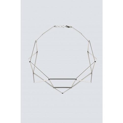 Vendita Abbigliamento Usato FIrmato - Collana rodiata a forma di origami - Noshi - Drexcode -1
