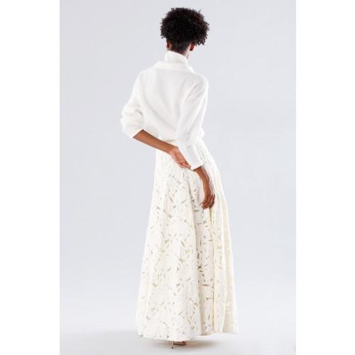 Vendita Abbigliamento Usato FIrmato - Completo bianco con gonna e maglione in cachemire - Paule Ka - Drexcode -6