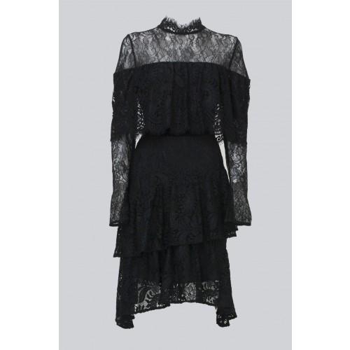 Vendita Abbigliamento Usato FIrmato - Abito corto nero con balze e maniche a mantella - Perseverance - Drexcode -1