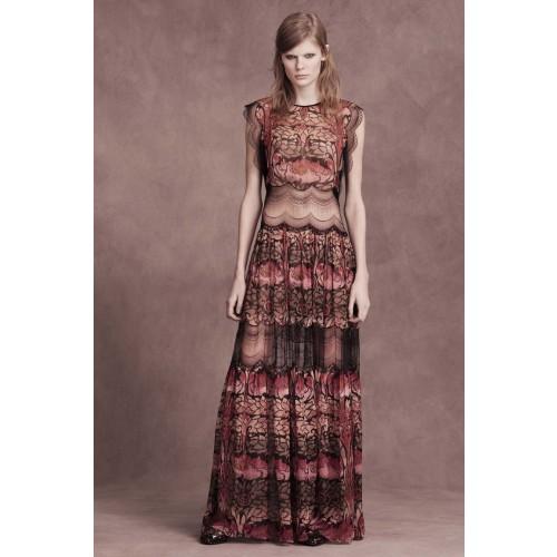 Vendita Abbigliamento Usato FIrmato - Abito in chiffon di seta e merletto - Alberta Ferretti - Drexcode -1