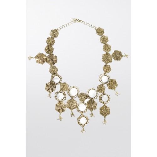 Vendita Abbigliamento Usato FIrmato - Collana in ottone e perle d'acqua dolce - Rosantica - Drexcode -1