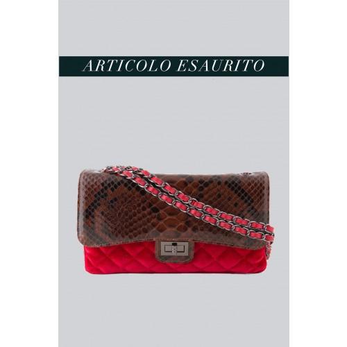 Vendita Abbigliamento Usato FIrmato - Borsa in velluto rosso e pelle stampata - AM - Drexcode -2