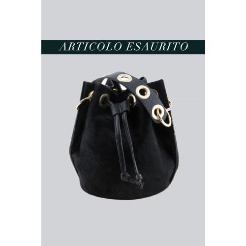 Vendita Abbigliamento Usato FIrmato - Mini secchiello in cavallino nero - AM - Drexcode -3
