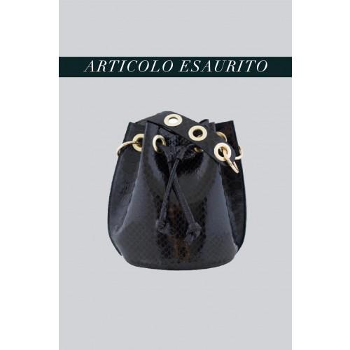 Vendita Abbigliamento Usato FIrmato - Mini secchiello nero in vernice stampata - AM - Drexcode -3