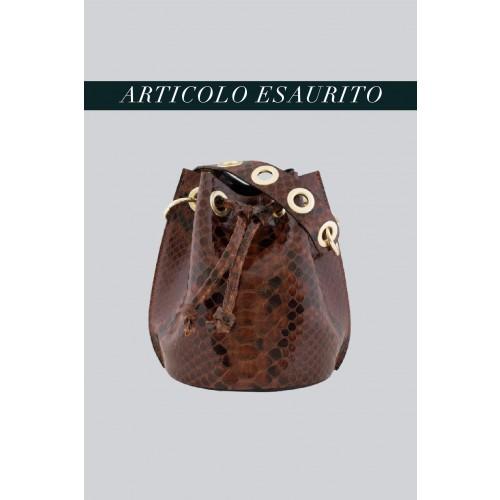 Vendita Abbigliamento Usato FIrmato - Mini secchiello in vernice stampata marrone - AM - Drexcode -2