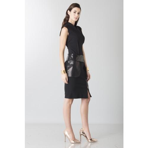 Vendita Abbigliamento Usato FIrmato - Tubino con dettagli in pelle - Jean Paul Gaultier - Drexcode -6