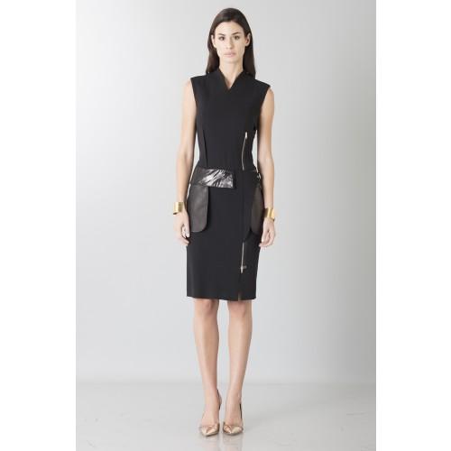 Vendita Abbigliamento Usato FIrmato - Tubino con dettagli in pelle - Jean Paul Gaultier - Drexcode -8