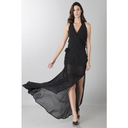 Vendita Abbigliamento Usato FIrmato - Abito nero con trasparenze - Vivienne Westwood - Drexcode -7