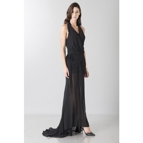 Vendita Abbigliamento Usato FIrmato - Abito nero con trasparenze - Vivienne Westwood - Drexcode -6