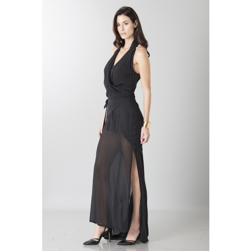 Vendita Abbigliamento Usato FIrmato - Abito nero con trasparenze - Vivienne Westwood - Drexcode -9