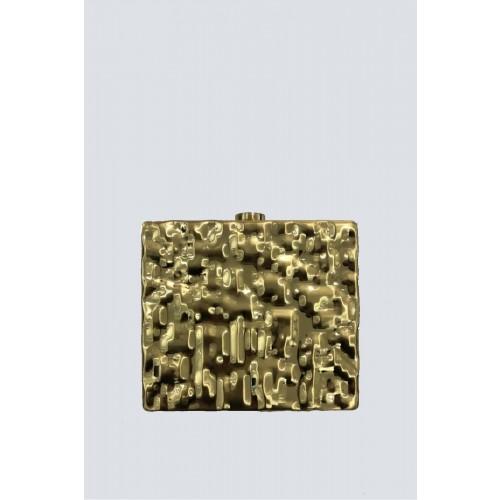 Vendita Abbigliamento Usato FIrmato - Clutch rigida dorata - Anna Cecere - Drexcode -1