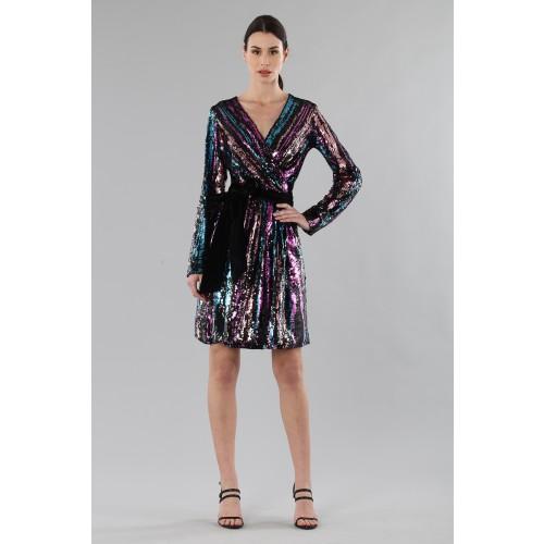 Vendita Abbigliamento Usato FIrmato - Wrap dress con paillettes mullticolori - Drexcode - Drexcode -5