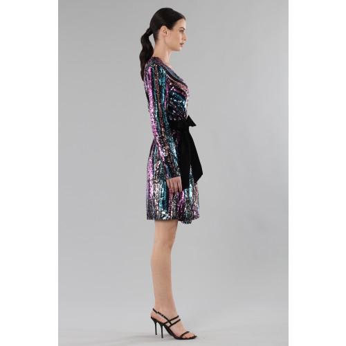 Vendita Abbigliamento Usato FIrmato - Wrap dress con paillettes mullticolori - Drexcode - Drexcode -6