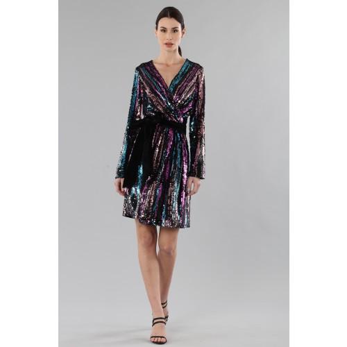 Vendita Abbigliamento Usato FIrmato - Wrap dress con paillettes mullticolori - Drexcode - Drexcode -8