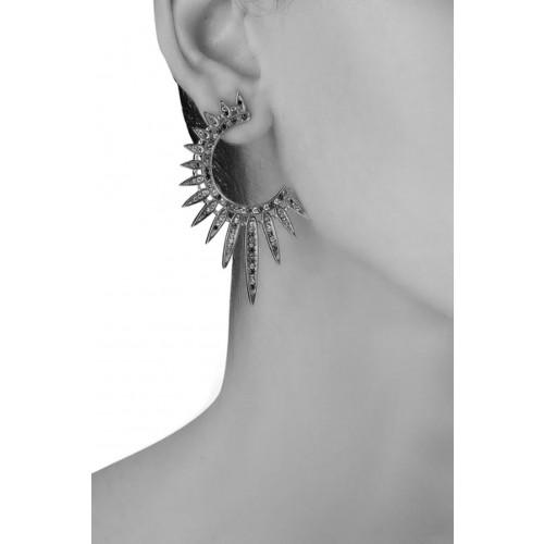 Vendita Abbigliamento Usato FIrmato - Orecchini pendenti a semicerchio - Nickho Rey - Drexcode -2
