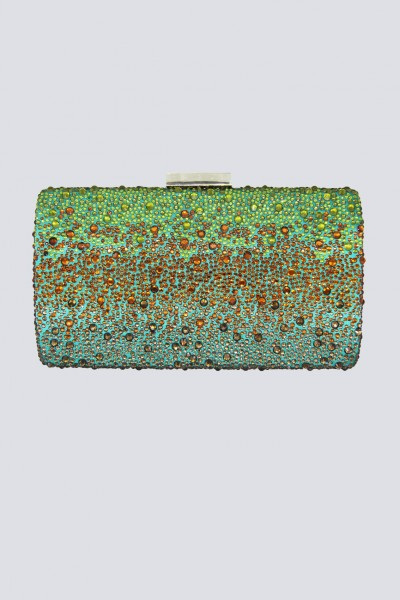 Clutch degrade verde arancio