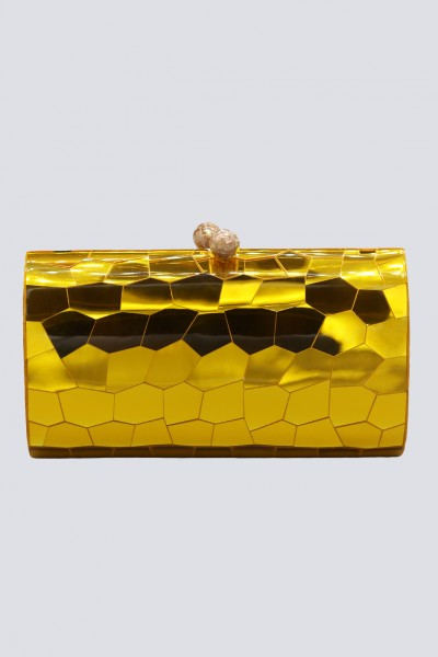 Clutch gialla geometrica