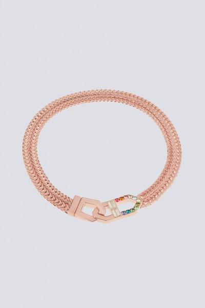 Collana con finiture oro rosa