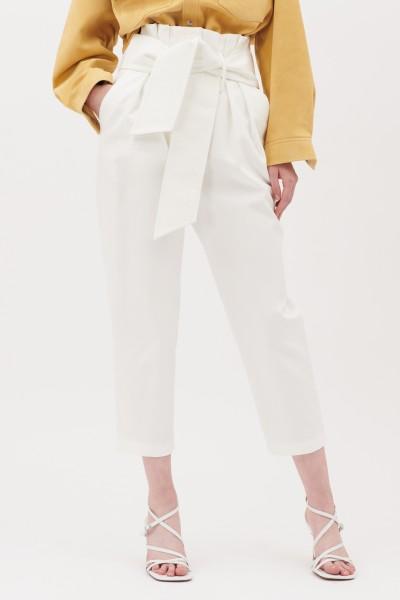 Pantaloni in cotone con cintura