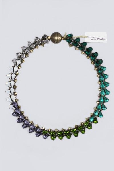 Collana con cristalli multicolori