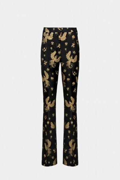 Pantalone fantasia dorata
