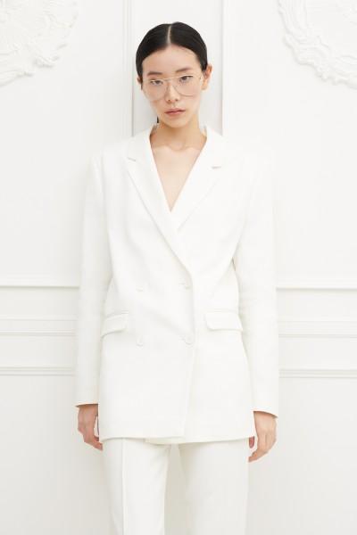 Giacca doppiopetto bianca