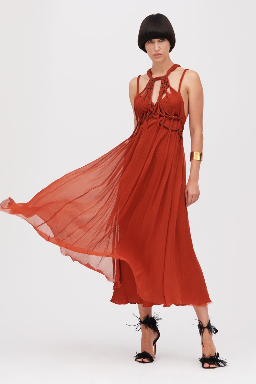 Crepon silk dress