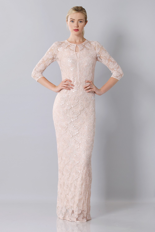Vendita Abbigliamento Usato FIrmato - Long dress with sequin sale - Blumarine - Drexcode -2