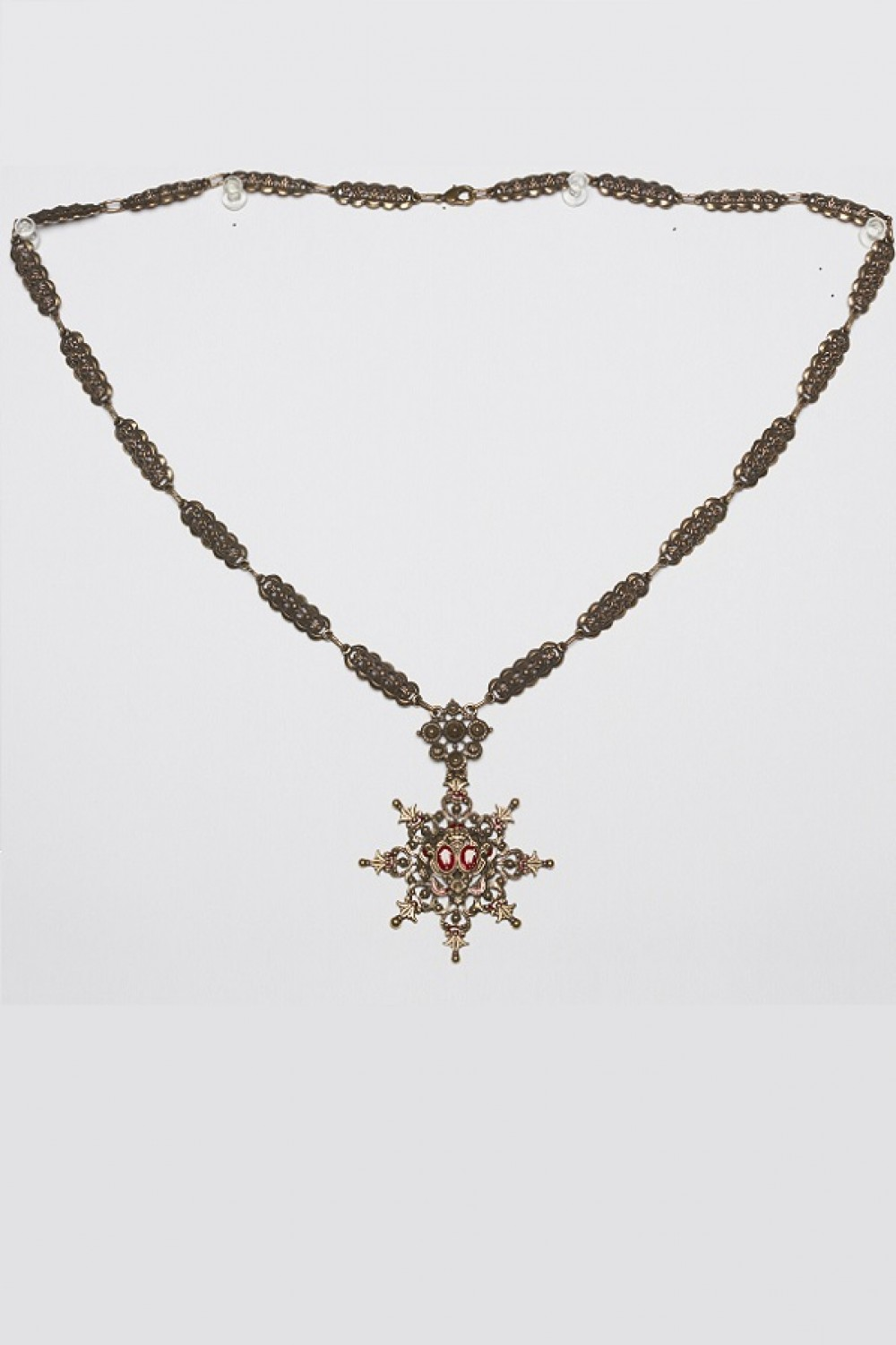 Necklace with red stone