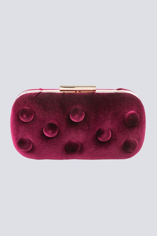 Burgundy velvet clutch