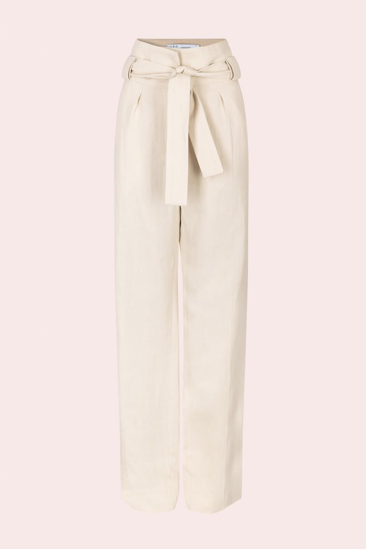 Pantaloni in lino con cintura