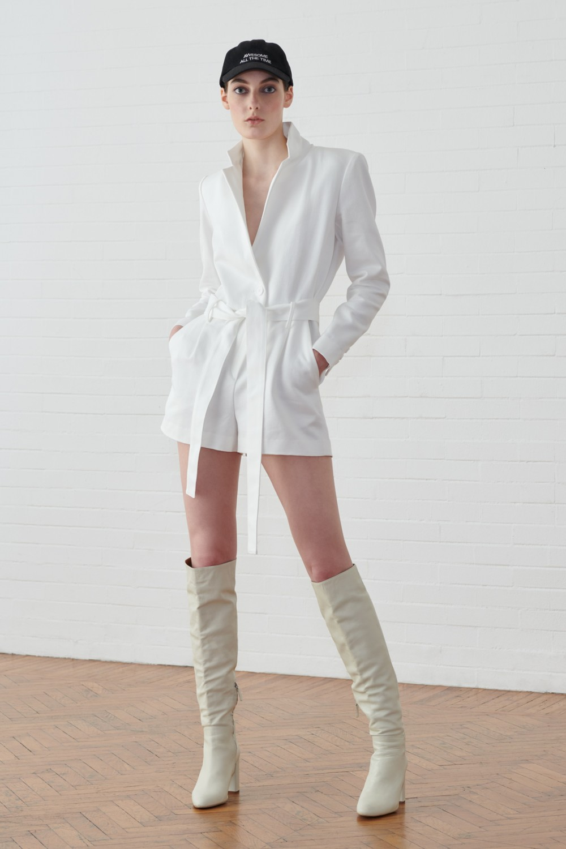 Jumpsuit corta bianca