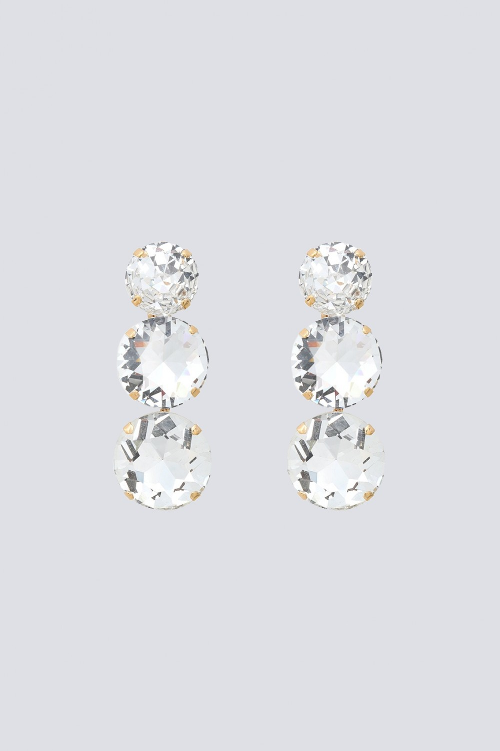Earrings with maxi crystals