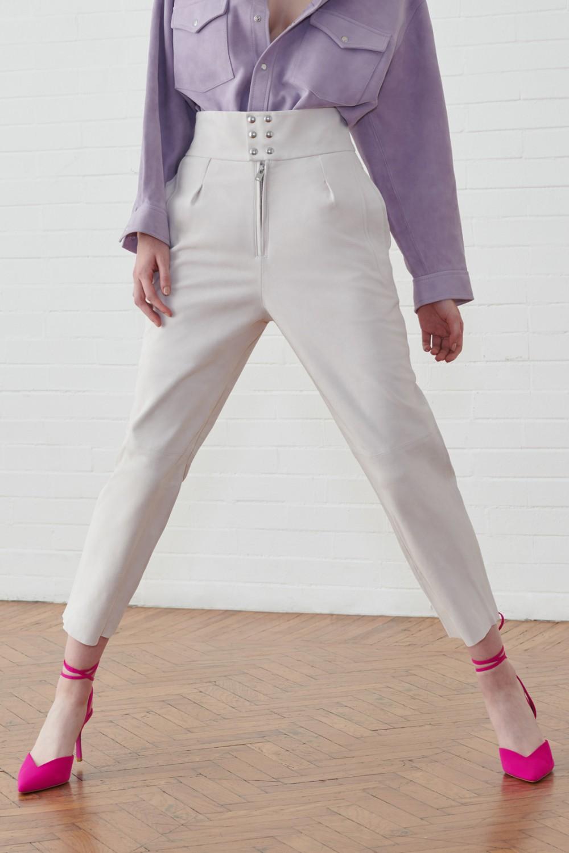 Pantaloni in suede