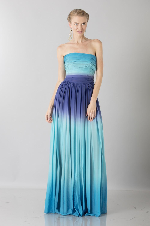 Blue degraded  bustier dress