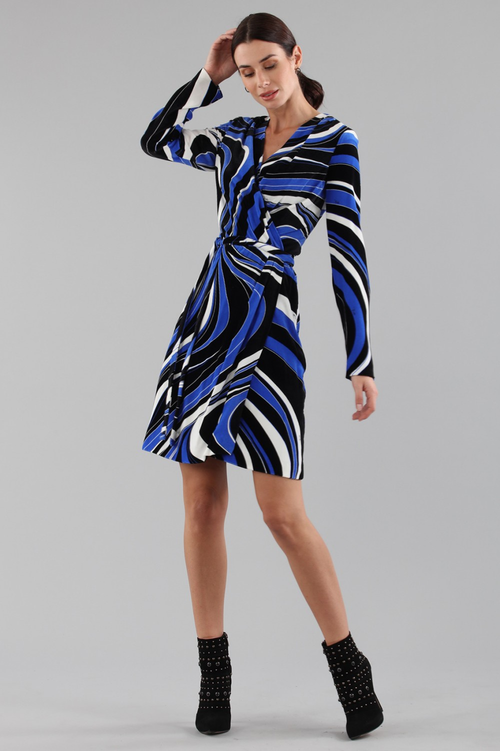 Dress with psychedelic print