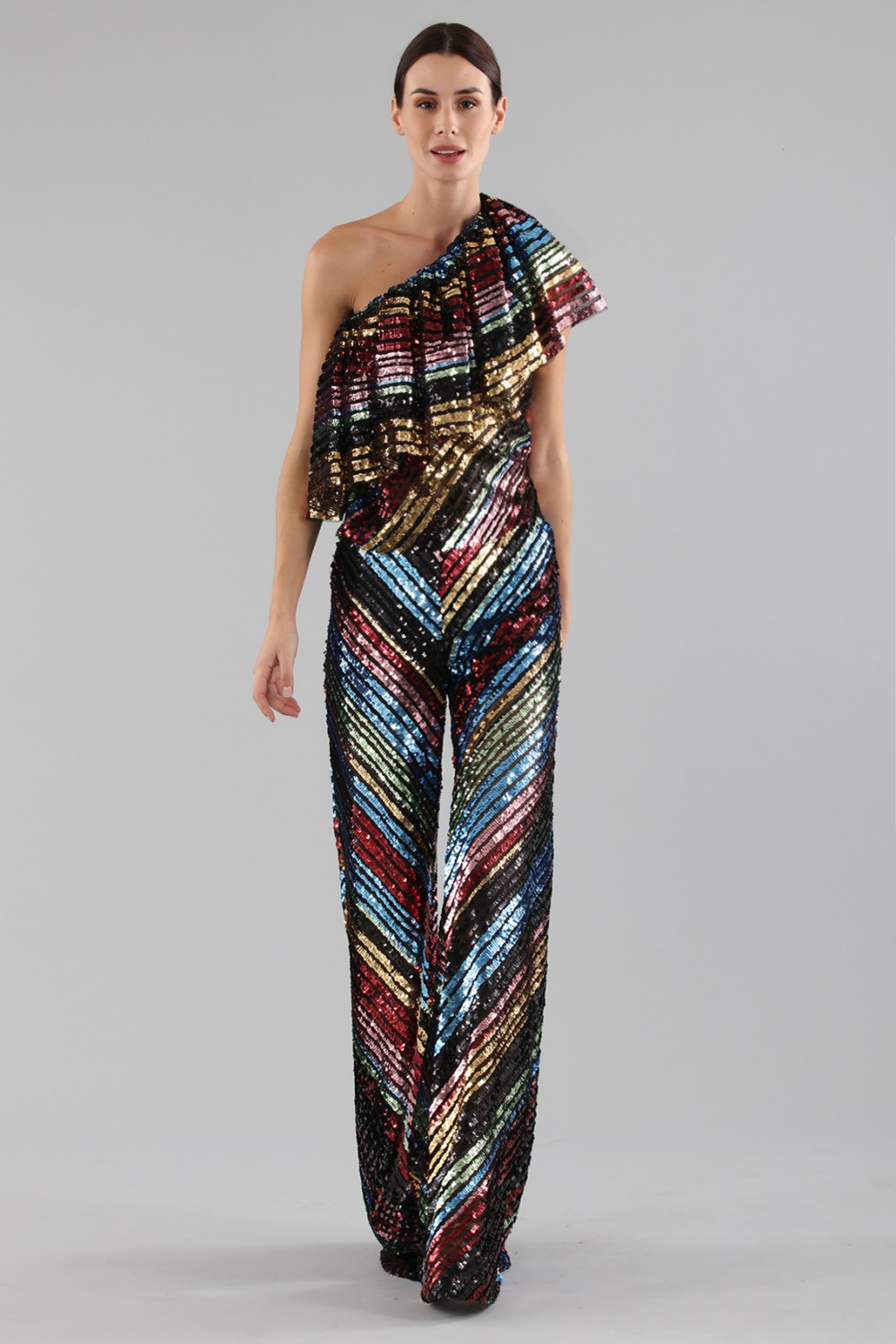 Dress in multicoloured sequins