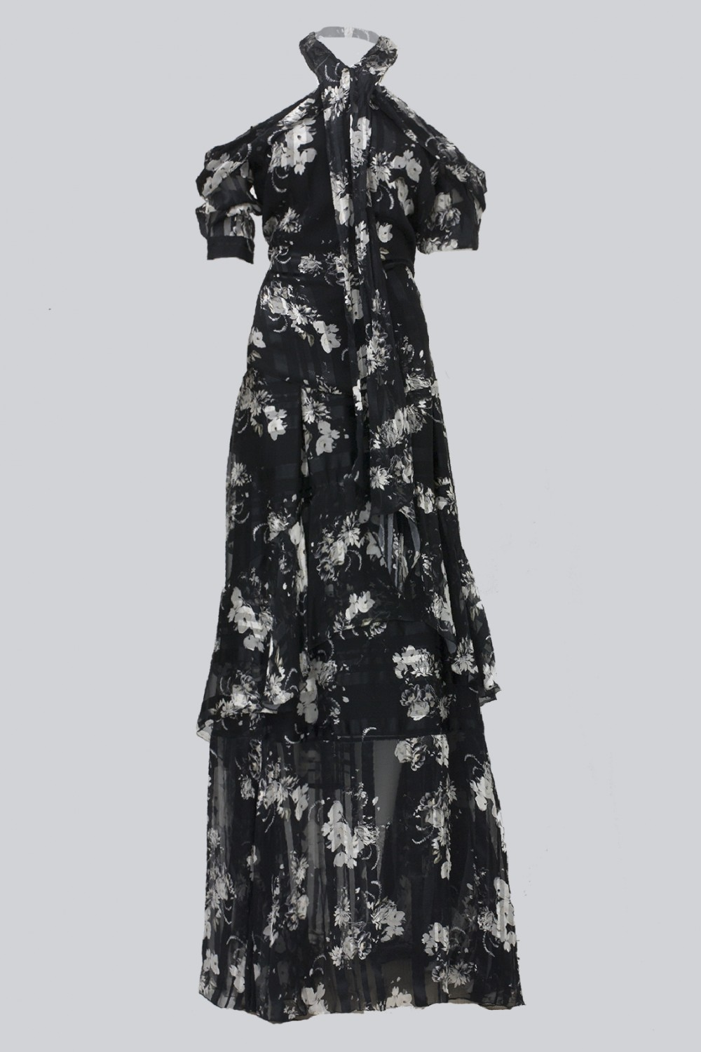Top and skirt with floral pattern