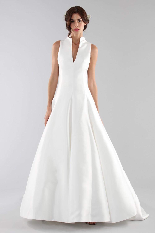 Wedding dress with neckline