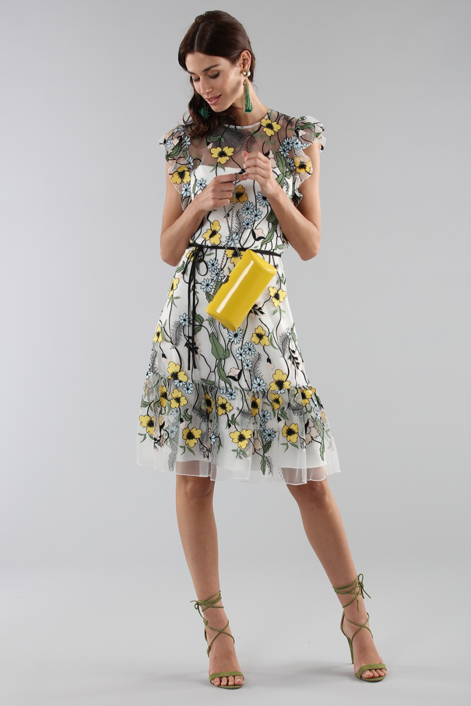 Floral pattern short dress