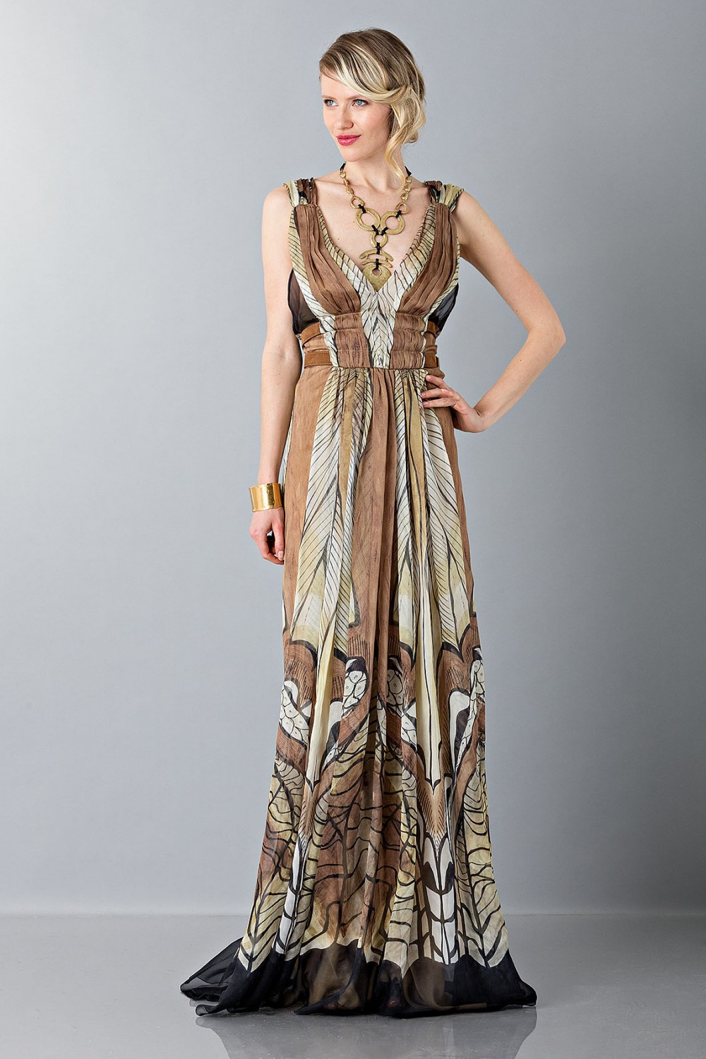 Ethinc floor-length dress