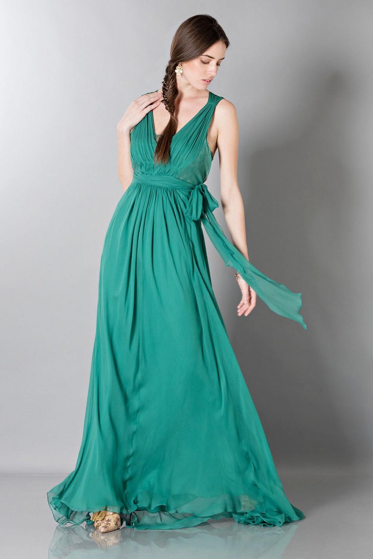 Empire-inspired silk dress