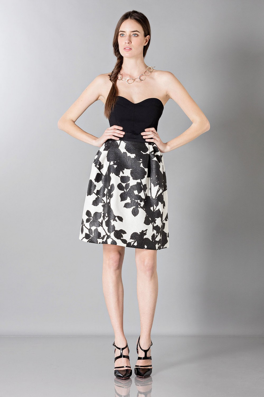 Floreal patterned skirt