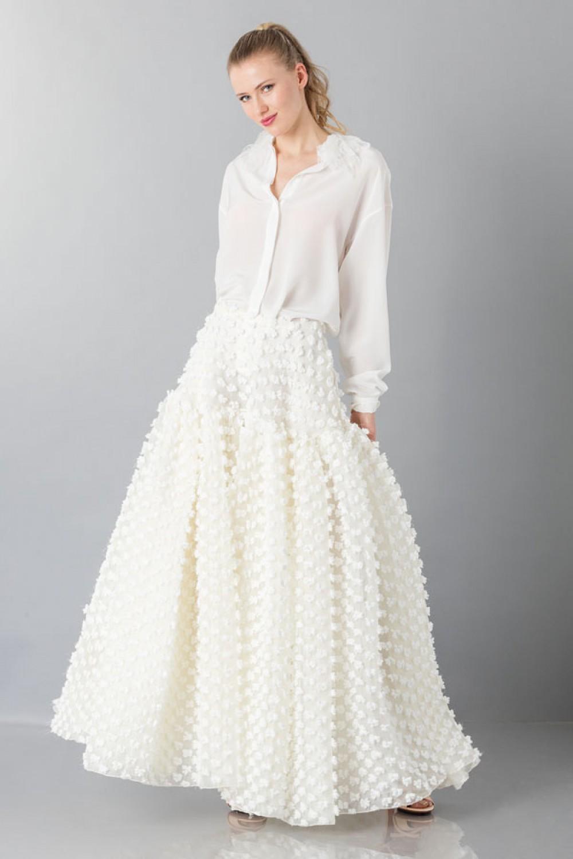 Pop-corn white skirt