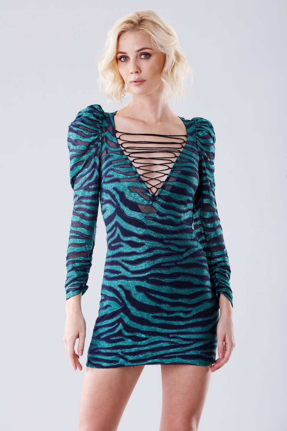 Tiger dress with crosses