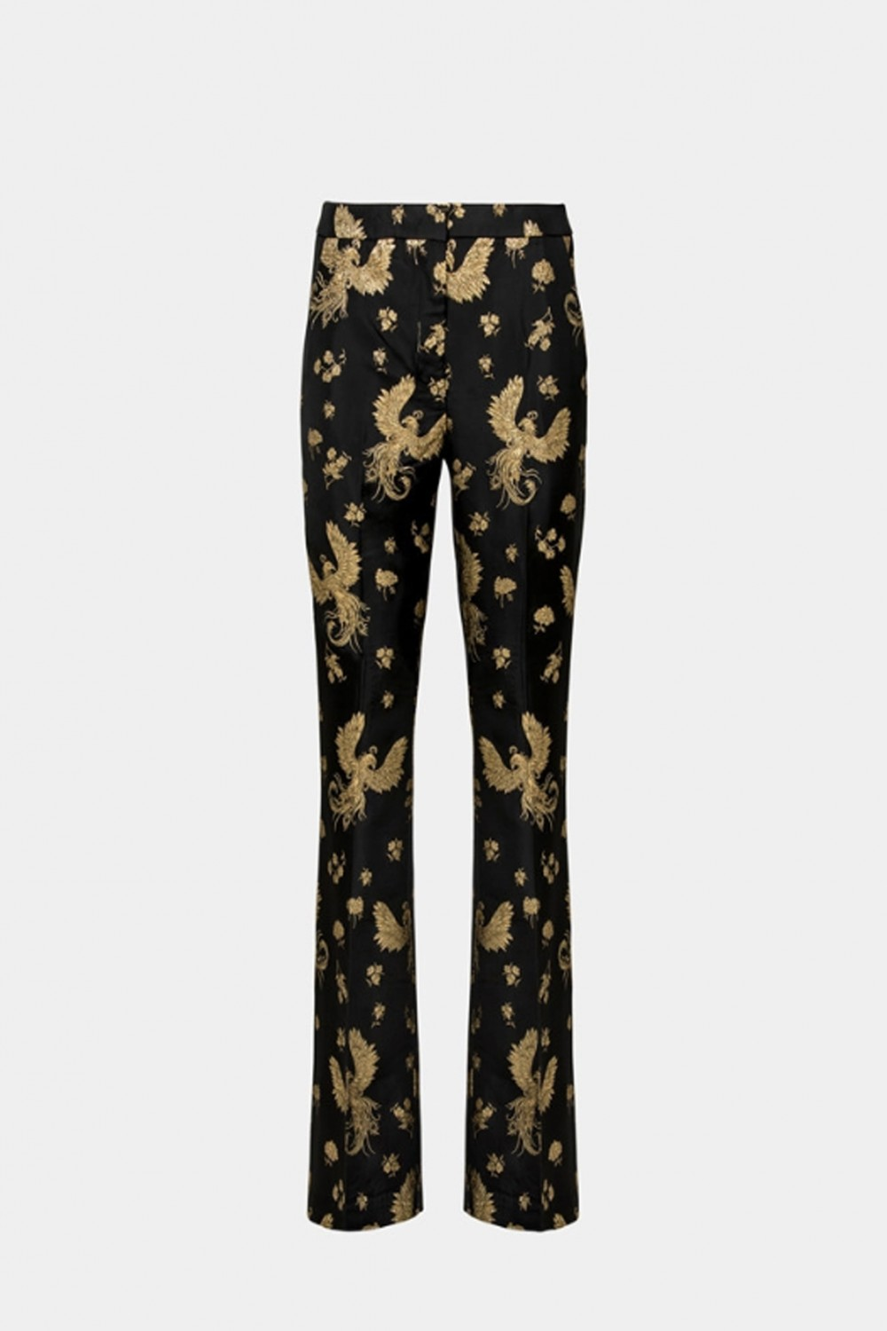 Golden printed trousers